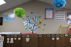 Thanks Mrs. Cockrell for showing us a clever new way to use our Boho Birds branches - up up and away!  Love the colorful paper poms on the ceiling, too!  Check out this blog, Teach On, for more ideas from an awesome 2nd grade teacher!