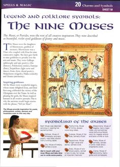 Legend and Folklore Symbols: The Nine Muses