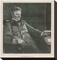Johan August Strindberg Swedish Playwright and Novelist Best Known for His Play Miss Julie Gicleetryck