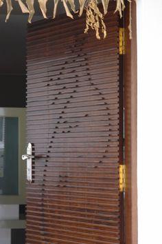 #main door #om #abstract #wood
