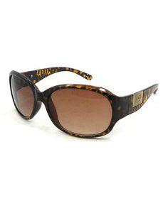 Loving this Brown & Black Tortoise Sunglasses on #zulily! #zulilyfinds