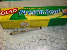 Quilts by Rosemary: Marking a Quilting Pattern with Press'n Seal
