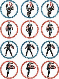 Laine Design: gratis prints voor een kinderfeestje, captain america