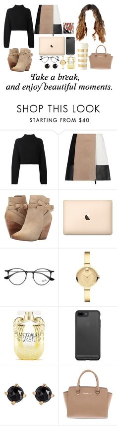 """""""enjoy the beautiful moments"""" by ms-prettymama ❤ liked on Polyvore featuring DKNY, Alexander Wang, Pelle Moda, Ray-Ban, Movado, Victoria's Secret, Irene Neuwirth, Michael Kors and Kate Spade"""