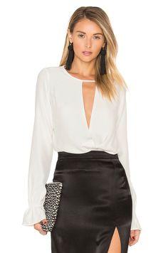 Stone Cold Fox Tori Bodysuit In White Stone Cold Fox, Fashion Forward, Leather Skirt, Mini Skirts, Bodysuit, My Style, Casual, Fashion Design, Clothes
