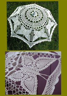 Might need these instructions some day – artofit Lace Umbrella, Lace Parasol, Crochet Dollies, Crochet Lace, Crotchet, Vbs Crafts, Lace Gloves, Lace Patterns, Crochet Patterns Amigurumi