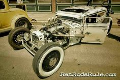 Rat rod sedan. Love the paint