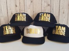 Team Bride Snapback Baseball Caps Premium quality Snapback Baseball cap baseball with gold foil print Checkout our other products for a matching