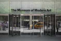 MOMA Office Entrance, Door Gate, Vestibule, Shop Fronts, Museum Of Modern Art, Atrium, Moma, Glass Door, Canopy