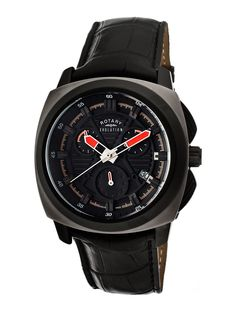 40b01d9358c Men s Evolution TZ1 Black Watch by ROTARY Rotary Watches