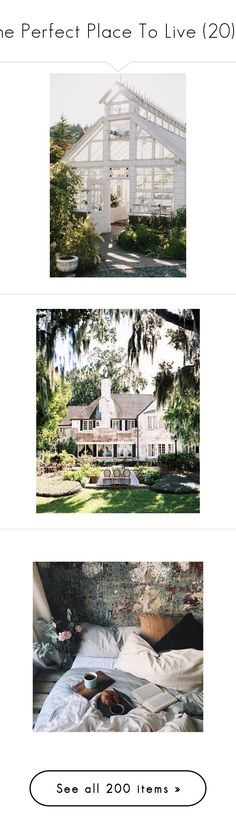 """The Perfect Place To Live (20) ♥"" by allweknowisfalling ❤ liked on Polyvore featuring backgrounds, home, kitchen & dining, houses, pictures, photos, pics, accessories, inspiration and green"