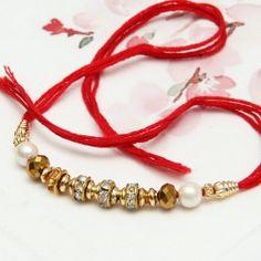 Rakhi studded with Gemstones Antique Jewellery Designs, Antique Jewelry, Diy Jewelry, Beaded Jewelry, Jewelry Design, Rakhi Images, Happy Raksha Bandhan Images, Handmade Rakhi Designs, Rakhi Making