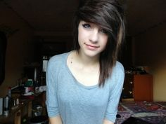 cute emo girl emo hair