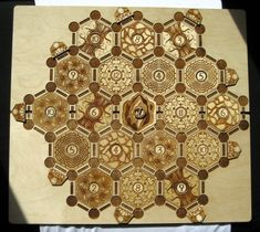 Custom Catan board made of birch. Beautiful.