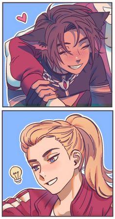 Cute Lesbian Couples, Lesbian Art, Deku Anime, Character Art, Character Design, Yuri Anime, She Ra Princess Of Power, Animation, Owl House