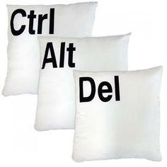 Almofadas CTRL + ALT + DEL - Presentes Criativos