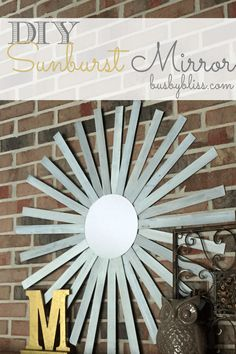 This DIY Sunburst Mirror is an easy project that you can finish in an afternoon.  It's a great statement piece of decor for your home.