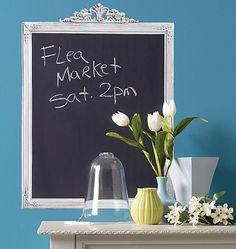 Framed Chalkboard - http://www.wallies.com/framed-chalkboard-products-10493.php?page_id=18