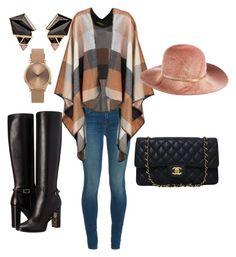"""Autumn collection"" by piudeliinu on Polyvore featuring Burberry, J Brand, Chanel, Nak Armstrong, Topshop and Eugenia Kim"