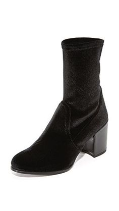 Stuart Weitzman Womens Calare Velvet Booties Black 9 BM US *** Learn more by visiting the image link.(This is an Amazon affiliate link and I receive a commission for the sales)
