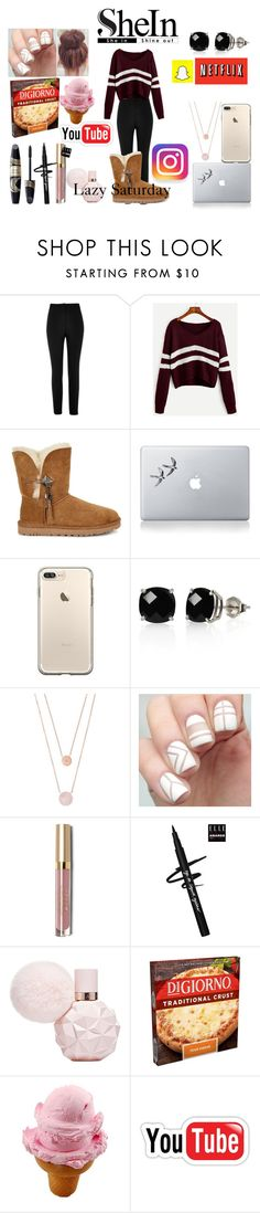 """""""Lazy"""" by thardy696 ❤ liked on Polyvore featuring River Island, UGG, Vinyl Revolution, Belk & Co., Michael Kors, Max Factor and Stila"""