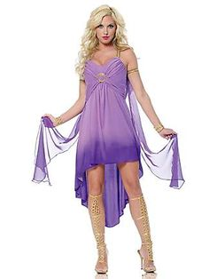 Women's Purple Roman Goddess Costume
