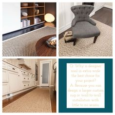 Discover our selection of sisal, jute, seagrass and other natural fibers for custom rugs or broadloom for wall-to-wall installation. Natural Fiber Rugs, Natural Area Rugs, Natural Rug, Carpet Runner, Rug Runner, Jute Rug, Sisal Rugs, Sisal Carpet, Cheap Rugs