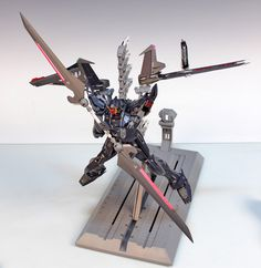 MG 1/100 Strike Noir Gundam - Customized Build     Modeled by RedBrick