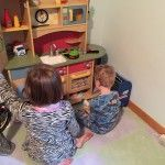 A rare but wonderful morning... the kids, playing, together. TOGETHER. #autism