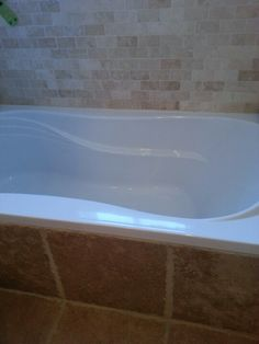 I like the smaller lighter tiles; not so much the larger floor tiles. Large Floor Tiles, Bathroom Renos, Bathroom Ideas, Bath Tiles, Spring Projects, Bath Remodel, Bathtub Surround, Sweet Home, Bathroom Updates