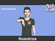 LENGUA DE SEÑAS MEXICANA  TEMA 2 PRONOMBRES Diccionario Español LSM