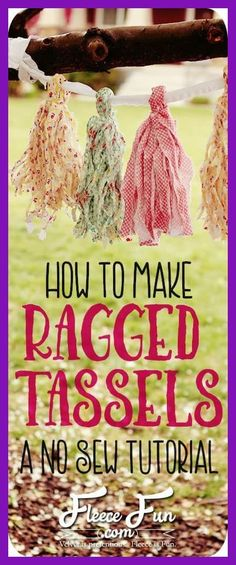 I love this ragged tassels tutorial. These are so shabby chic and easy to make! There's a video tutorial to show you how to make them step by step. This is great party decor DIY. These tassels won (Diy Curtains Shabby Chic) Shabby Chic Pink, Shabby Chic Outfits, Shabby Chic Mode, Cocina Shabby Chic, Shabby Chic Vintage, Shabby Chic Crafts, Shabby Chic Interiors, Shabby Chic Bedrooms, Shabby Chic Kitchen