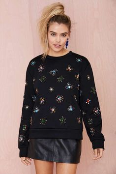 Jeweling Over You Beaded Sweatshirt | Shop Clothes at Nasty Gal