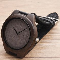 Bamboo Wooden watches for men 2017 dark black