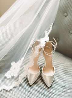 Shoes from J.Crew -- Veil from BHLDN. See more on http://www.StyleMePretty.com/2014/04/03/romantic-fashionable-paris-elopement/ Caroline Yoon Fine Art Photography - www.carolineyoonphotography.com