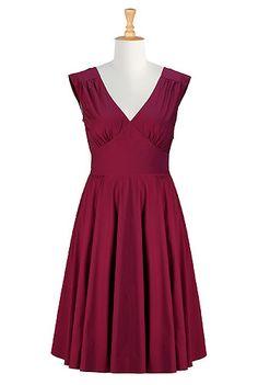 eShakti Pin-up cotton poplin dress