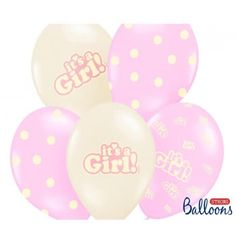 bapteme déco decoration bapteme  deco bapteme fille  Ballons de baudruche It's a girl pour baby shower #hollyparty