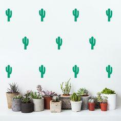 Naklejki ścienne kaktusy - zielone