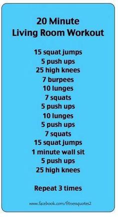 20 min loungeroom fitness