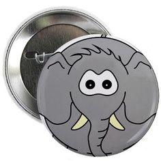 "Kiko Elephant 2.25"" Button"