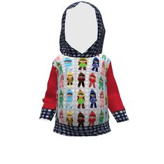 Brindille and Twig Toddler Hoodie made with Spoonflower designs on Sprout Patterns.
