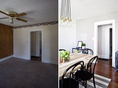 HFHS House: Dining Room (Before + After) | A Beautiful Mess | Bloglovin'