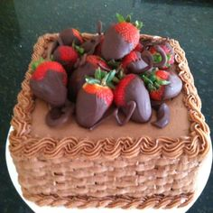 Choc buttercream basketweave