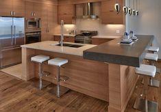 Best kitchen layout design tips 27 Ideas L Shape Kitchen Layout, Best Kitchen Layout, Kitchen Layouts With Island, Kitchen Island With Sink, Modern Kitchen Cabinets, Kitchen Cabinet Colors, Kitchen Colors, Rustic Kitchen, Kitchen Decor