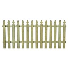 Pine Gothic Pressure Treated Wood Fence Panel (common: 4-ft X 8-ft; Actual…