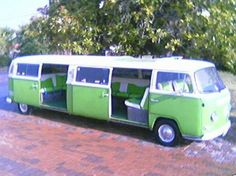 VW bus limo Hoe cool is dit :)