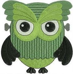 Embroidered Zombie Owl Patch Iron/sew-on 3 Sizes Available via TwistedStitcher Embroidery. Click on the image to see more!