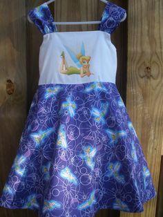 Custom Tinkerbell Disney Dress  100 Cotton by LittleCinderellas, $25.00