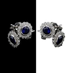 Grab for our  blue sapphire and diamond earrings  ___________________________________________________  14K White Gold Bezel Set Diamond And Blue Sapphire Flower Stud Earrings. Proudly made in New York City.  #jewellery #jewelry #earrings #diamond #diamonds #sapphire #flower #flowers #nyc #newyork #newyorkcity #gems #stones #shopping #gift #trend #fashion #womenfashion #whitegold #gold #blue #blackandwhite #shop #beauty