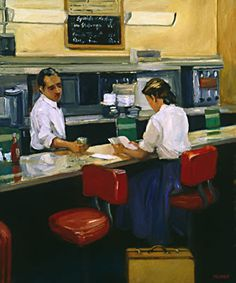 Sally Storch, Grand Central Café, Girl in a blue skirt (2006)